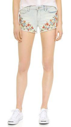 Blank Denim Embroidered Shorts | SHOPBOP