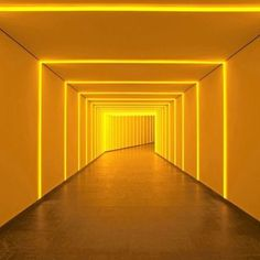 Gunda Foerster LED Innovations in Art & the Top Artists that Use Light as Their Medium — Language of Light — The Intersection of Lighting, Efficiency and Architecture Yellow Art, Yellow Walls, Mellow Yellow, Neon Yellow, Yellow Aesthetic Pastel, Aesthetic Colors, Rainbow Aesthetic, Light Tunnel, Lights Artist