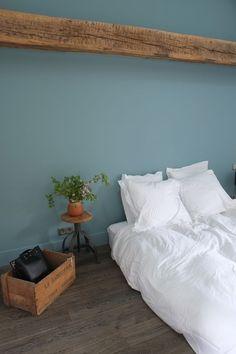 chambre d'amis et ses tonalités de vert