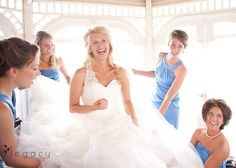 Fun moment with the bridesmaids #BlackHillsReceptions