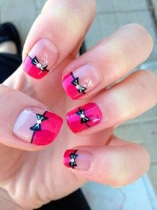 Cute Bow Nail Designs 27 Bow Nail Art When you are looking for inspirations on your nails, you will be amazed by the infinite ideas of . Bow Nail Designs, Cute Nail Art Designs, Christmas Nail Art Designs, Winter Nail Designs, Winter Nail Art, Acrylic Nail Designs, Christmas Nails, Pink Nail Polish, Pink Nails