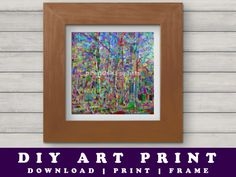 Abstract Trees Photographic Art Print  #photographicart #phart #abstract #printableart #prandski