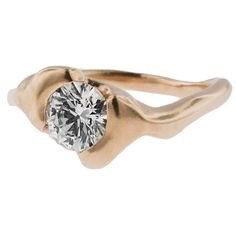Metal Pressions | Rose Gold Engagement Ring  - Contemporary Design Inspired by Nature  #Unique #Rose Gold #Engagement #Marriage #WeddingBand #Nature