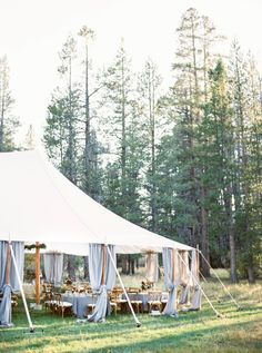 Tented party reception at Mitchells Meadow: http://www.stylemepretty.com/2016/08/09/lake-tahoe-mountain-meadow-wedding/ Photography: Maria Lamb - http://marialamb.co/