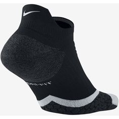 Nike Elite Cushioned No-Show Tab Running Socks. Nike.com ($55) ❤ liked on Polyvore featuring intimates, hosiery, socks, padded socks, nike, nike socks and cushioned socks