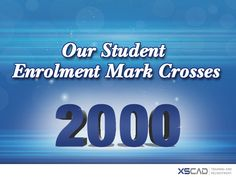 XS CAD's Authorised Training Centre is extremely proud to announce an important milestone. Within such a short time span, our student enrolment for AutoCAD, Revit, 3Ds Max, and Navisworks courses has crossed the 2000 mark.  #CorelDraw #CorelDesign #CorelDesigner #Internship #AutoCAD #Revit #3D #AutoDesk #Design #CAD #Architecture #MEP #BIM #BIMModelling #Training #Courses #InteriorDesigners #Photoshop #Adobe
