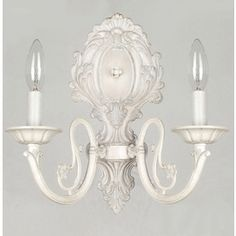 Style Selections 2-Light White Arm Sconce  $49.00    Item #: 234987 |  Model #: LPW-10867/2