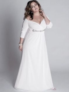 Plus Size Wedding Dresses-Style PS104    I love this dress!! I think that it would be perfect for my wedding one day!!