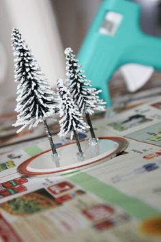 How to create a christmas village display tutorial christmas train tablevillage display idea solutioingenieria Choice Image