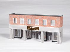 Bachmann Industries Hobby Store False-Front (Thin-Profile) Building - SceneScapes(TM)