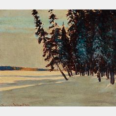 "Johnston ""Lengthening Shadows, Late Aftersonn, Onoman Lake near Tahota gold Fields,"" oil on board, 10 x Winter Painting, Winter Art, Tom Thomson Paintings, Emily Carr, Group Of Seven, National Art, Canadian Artists, Painting Abstract, Plein Air"
