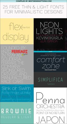 free thin and light fonts to download