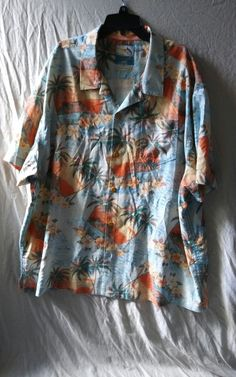 TOMMY BAHAMA Hawaiian Aloha Silk Shirt Size XXL Floral Palm Trees | Clothing, Shoes & Accessories, Men's Clothing, Casual Shirts | eBay!
