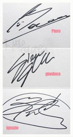 Il Volo, their signatures