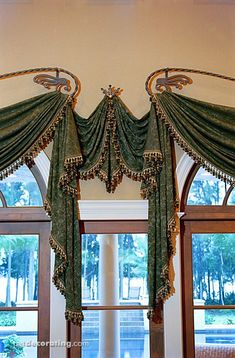 17 best images about drapes curtains swags pelmets Valance Window Treatments, Custom Window Treatments, Window Coverings, Curtains And Draperies, Window Curtains, Valances, Drapery Designs, Pelmets, Passementerie