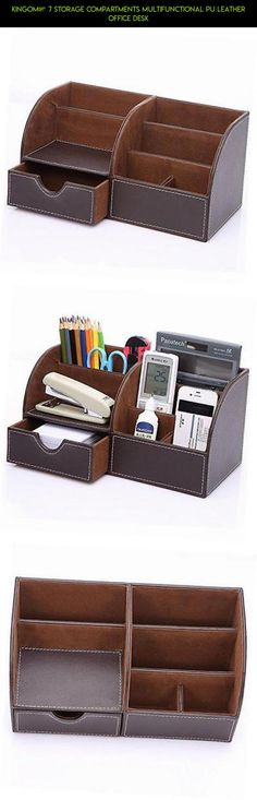 kingom™ 7 storage compartments multifunctional pu leather office desk #leather #fpv #storage #technology #camera #products #drone #racing #kit #pu #tech #gadgets #office #shopping #7 #parts #plans