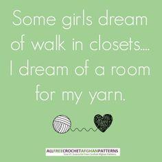 A #yarn room!  My biggest wish!