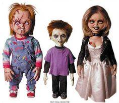 Chucky, Tiffany, and Glen a great doll family