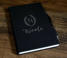 Personalized Leather Journal Engraved Journal Lined Journal Diary Notebook, Journal Diary, Leather Notebook, Leather Journal, Ribbon Bookmarks, Personalized Notebook, All The Colors, Initials, Monogram