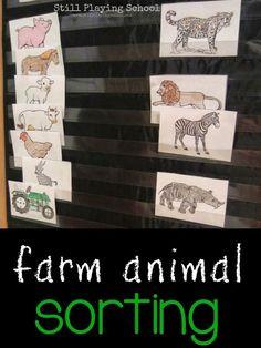 Farm Animal Sorting for Kids | Still Playing School