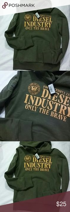 Diesel Boys Hoodie Size 14 New Color Army Green Diesel Shirts & Tops Sweatshirts & Hoodies