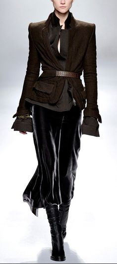 Haider Ackermann 2013 Lovely skirt and boots,always a great look