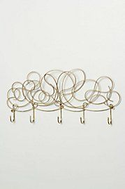 Whirled Metal Hook Rack