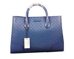 Gucci Bright Diamante Leather Top Handle Bag 354225 Blue - $239.00