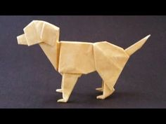 Labrador Origami - with link to Folding Instructions - YouTube