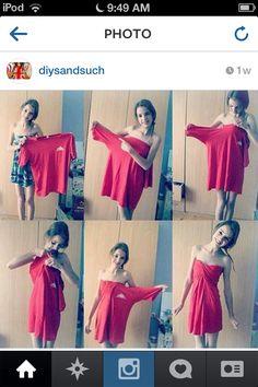 Cool idea! ♻ t-shirt to dress