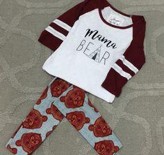 Lularoe Bear Leggings paired with custom tee by CrumleyMamaCreations on Etsy. Perfect combo!