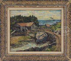 """""""Sawmill, Monhegan Maine,"""" Andrew Winter, oil on canvas, 22 x 26"""", private collection."""
