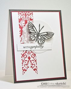 Joyful Creations with Kim: CAS(E) this Sketch: A Banner and a Butterfly
