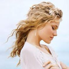 mermaid hair - something tousled and simple for the beach wedding
