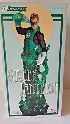 "DC DIRECT DYNAMICS ""GREEN LANTERN"" Tim Bruckner RESIN STATUE - FIGUR NEU & OVP Statue, Lantern, Resin, Comic, Books, Movie Posters, Movies, Characters, Livros"