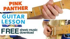 ► Pink Panther Theme ★ Kids & Beginners ★ Guitar Lesson - FREE Sheet Music