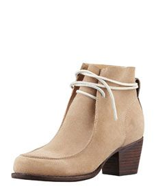 Rag & Bone Piper Suede Lace-Up Boot, Camel | $495