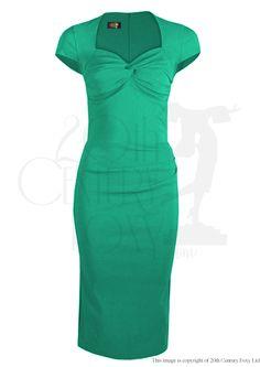 Foxy Lady 50s Wiggle Dress - jade. I really like this one!!!