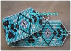 Beautiful cuff in turquoise by Framboise!