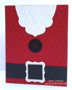 Santas Gotta a Brand New Beard #stampin up #punch card #handmade Christmas card http://elizabethstamps.com/5/post/2013/11/santas-gotta-brand-new-beard.html