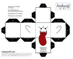 Boo Mario - cubeecraft / papercraft by MarcoKobashigawa on DeviantArt