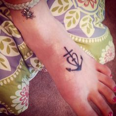 Faith & Love are my anchor.  Actually means Faith, Love and Hope.