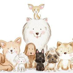 Dogs art illustration inspiration 25 Ideas for 2019 Illustration Inspiration, Dog Illustration, Watercolour Illustration, Animal Illustrations, Animal Drawings, Cute Drawings, Cute Dog Drawing, Animals And Pets, Cute Animals
