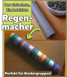 Regenmacher - kinderleicht, günstig, klasse für Kindergruppen!