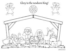 embroidery patterns, craft, christmas nativity, christmas coloring pages, christma colour