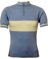 Pale Blue, Ecru Cycling Jersey