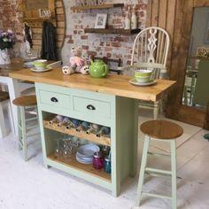 Bespoke Handmade To Order Solid Pine Kitchen Island/Breakfast Bar Pine Kitchen, Kitchen Cart, Kitchen Island, Solid Pine, Bespoke, Dining Table, Bar, Breakfast, Industrial Dining