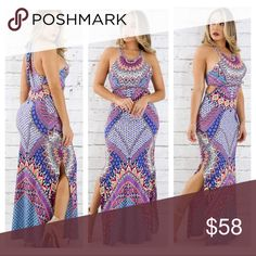The Mindy Dress only $45 on website Please visit our website at www.DeBonairBoutiqueShop.com for lower rates because posh mark fee is included in all items listed on here! Also follow us on Instagram @DeBonair_Boutique Dresses Maxi