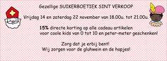 Avondshoppen bij Suikerboetiek! Sla superleuke sinterklaasgeschenken in aan 15% korting! Voor meer info: www.suikerboetiekgiftshop.be