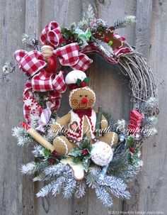 Gingerbread Holiday Wreath   ~A New England Wreath Company Designer Original~